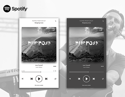 Daily UI #009 - Music Player (Light and dark Spotify)