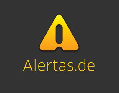 Alertas.de App concept UI