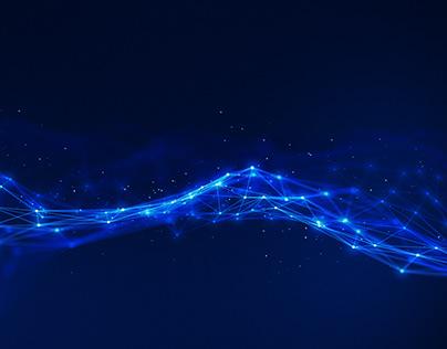 4K Futuristic Network Technology Plexus Concept Loop