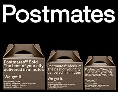 Meet the new Postmates, Logotype/Corporate Type (2017)