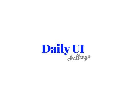 #DailyUI Challenge