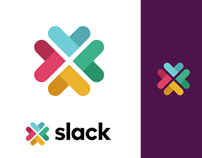 Slack New Logo Rebranding - Conceptual Propositions