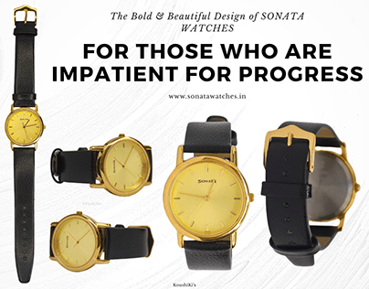 SONATA Watches Product Photography & design-Home Shoot