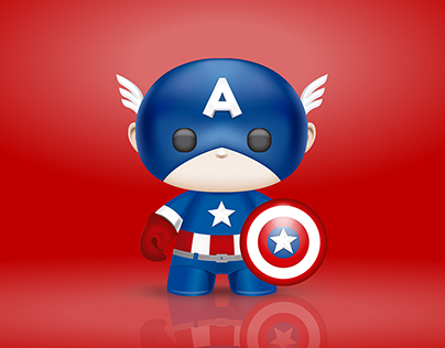 3D ART - CAPTAIN AMERICA