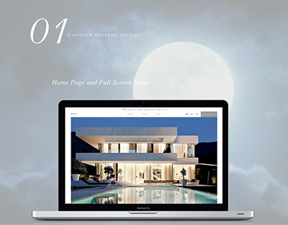 Moonlit Residence Resort Property Web Design UI/UX