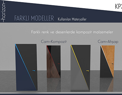 Door Model 2 (Led+Glass+Wood+Metalic)