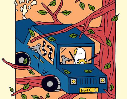 Car in Tree