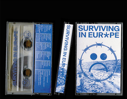 "Tape design + T Shirt for ""Surviving in Europe"""