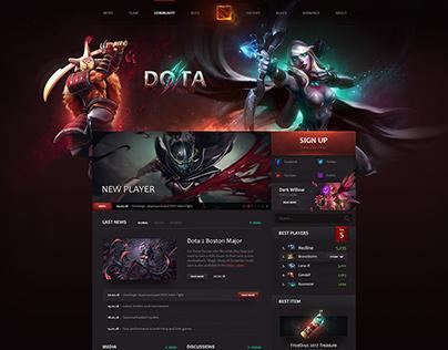 Dota 2 Fan Website