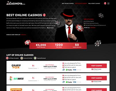 Mr.Casinova Casino Affiliate Re-design