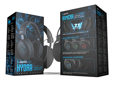 Gaming Headset package design