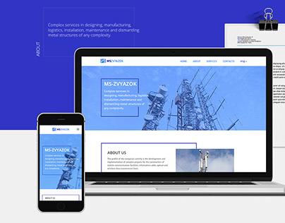 "Website & Logo/branding ""MS-Zvyazok"" company"