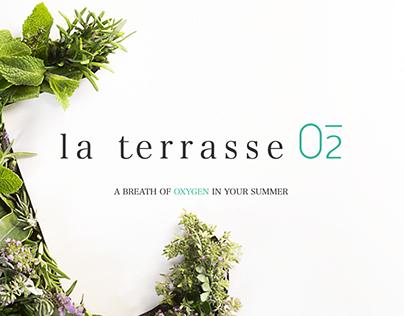 La Terrasse O2 — Brand design