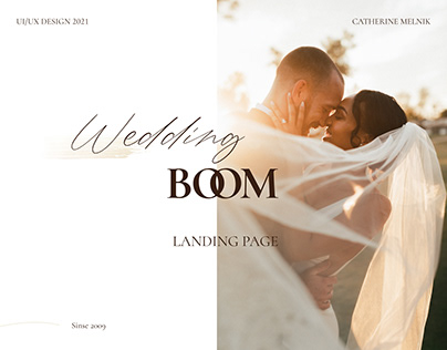 Landing page. Wedding agency