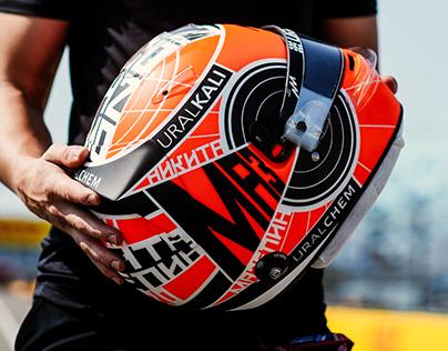 Nikita Mazepin 2020 Sochi Race Helmet Design