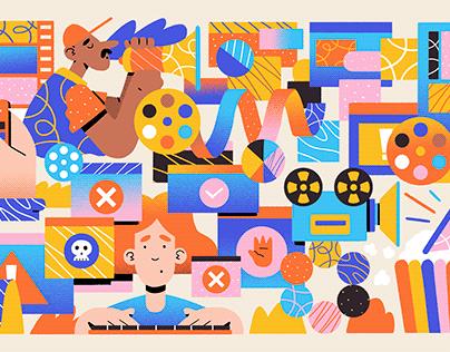 Adobe Blog Illustrations