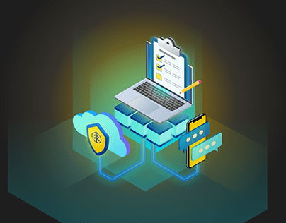 Loyalty Features Isometric Illustration