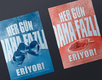 """REYHAN PİR - Küresel Isınma """"Fotoğraf Çekimli Poster"""""""