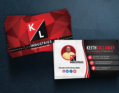Business Card Design - K&L