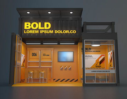 3D MODEL EXHIBITION STAND 006 18 sqm