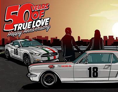 Ford Mustangs Freddy Van Beuren •50 Years of true LOVE•