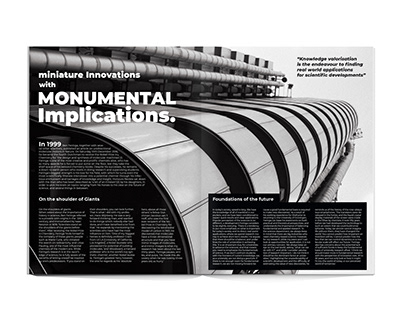 Magazine spread layouts - Honours Review (proposals)