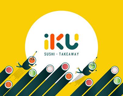 iKU いく Sushi - Branding