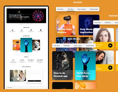 Tech Startup Website Responsive | UX/UI