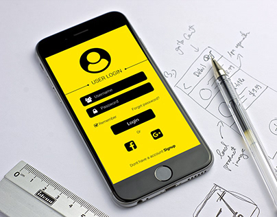 User login Screen UI Design