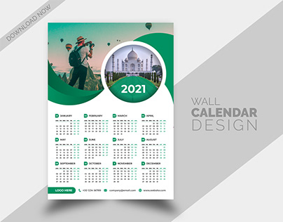 Corporate Business Agency Wall and Desk Calendar Design