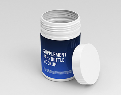 Supplement Jar / Bottle Mock-Up 2
