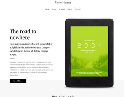 E-book Website Landing page.