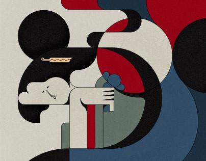 Ukiyoe inspired abstractions