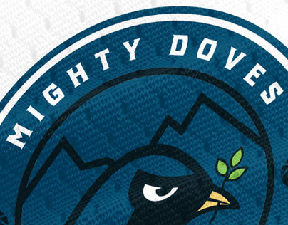 Mighty Doves Basketball - Full Logo