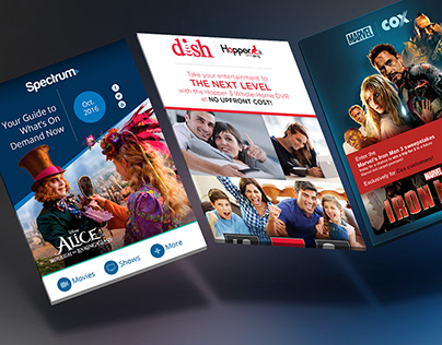 DIRECTV Cinema Guide — Multiplatform Website on Behance