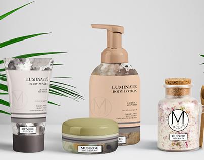 Munroe Bath & Body Branding