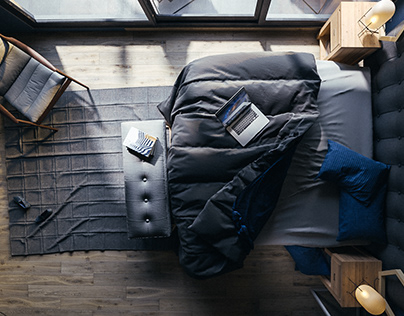 Blue Bedroom - CG Images