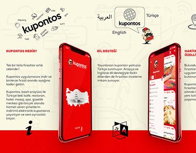 Kupontos APP Promotion and Brochure Design