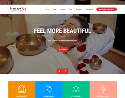 Massage Spa WordPress theme