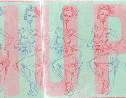 ROSE PINUP Illustration