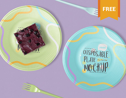 Free Disposable Plate Mockup