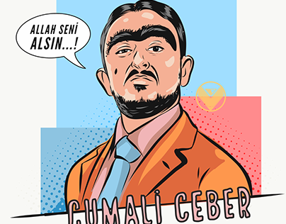 cumali ceber portraiit illustratİon