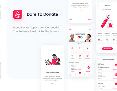 Dare To Donate Blood Donor App Case Study