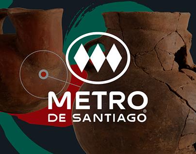 Large graphics for Metro de Santiago