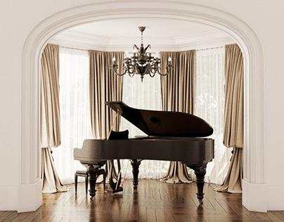 CGI - Piano Room