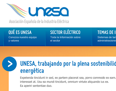 UNESA. Corporate Site.