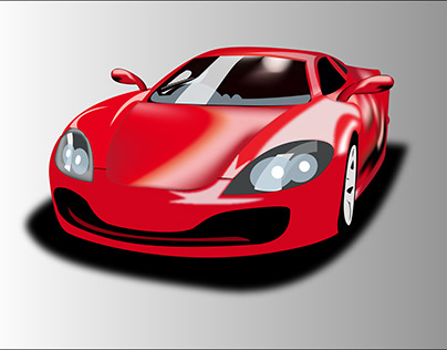 Sports Car Vector In Illustrator