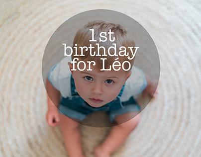 1st birthday for Léo