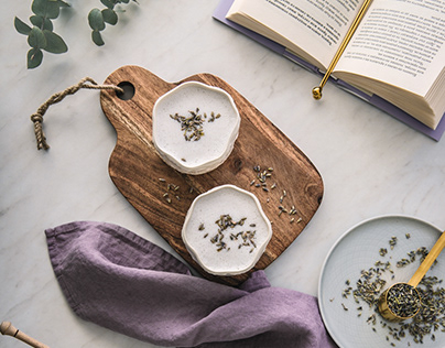 Food styling and photography: Bedtime lavender latte