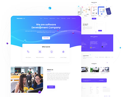 IT Company Landing Page | Concept